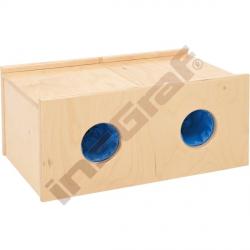 Skříňka -hádanka se 2 otvory