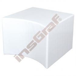 Bílý sedák s výřezem, výška 44 cm