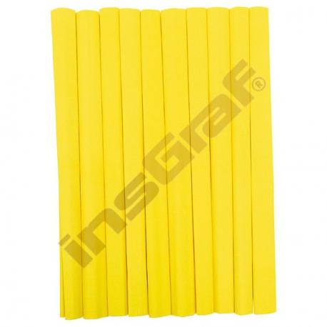 Krepový papír žlutý 10 ks