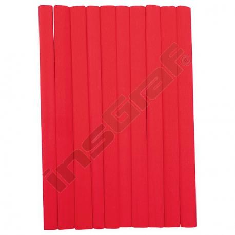 Krepový papír červený 10 ks