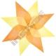 Hedvábný papír 50 x 70 cm žluté odstíny