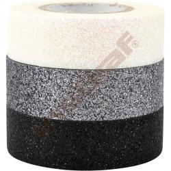 Brokátové samolepící pásky (bílá, stříbrná, černá)