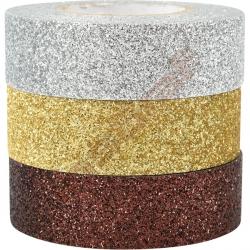 Brokátové samolepící pásky (stříbrná, zlatá, bronzová)