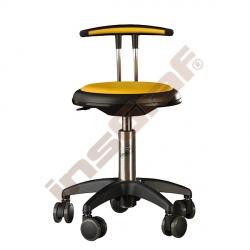 Židle Genito s opěrkou, výška 30-38 cm - žlutá