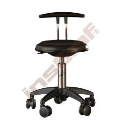 Židle Genito s opěrkou, výška 38-48 cm - černá