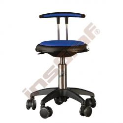 Židle Genito s opěrkou, výška 38-48 cm - modrá