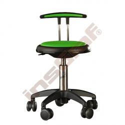 Židle Genito s opěrkou, výška 38-48 cm - limetková