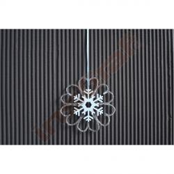 Dřevěné dekorace - sněhové vločky