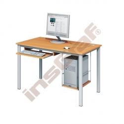 Počítačový stůl LUX PLUS s policí na HD a výsuvnou policí na klávesnici - buk