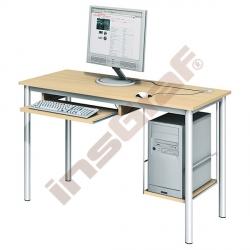 Počítačový stůl LUX s policí na HD a výsuvnou policí na klávesnici - javor