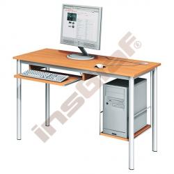 Počítačový stůl LUX s policí na HD a výsuvnou policí na klávesnici - buk