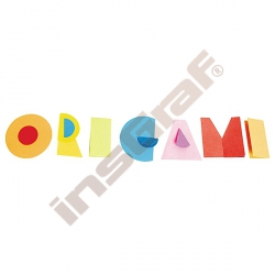 Kolečka na origami 47 oranžová