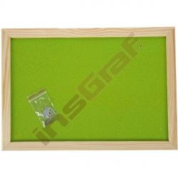 Korková tabule 90 x 120 cm - zelenkavá