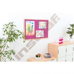 Korková tabule 90 x 120 cm - růžová