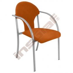 Židle Visa alu oranžová