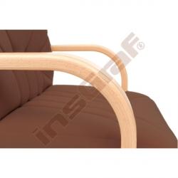Židle MANAGER s kluzáky hnědá