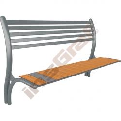 Zahradní lavička s ocelovou opěrkou