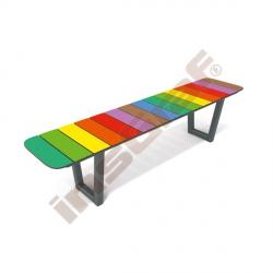 Duhová lavička rovná