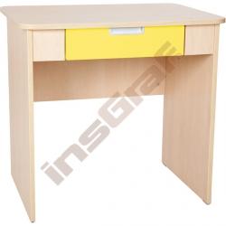 Quadro - psací stůl se širokou zásuvkou - žlutý