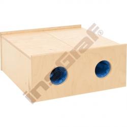 Skříňka - hádanka se 4 otvory