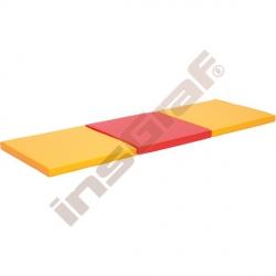 Trojdílná žíněnka oranžově-červená - rehabilitační tvary