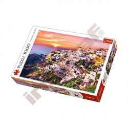 Puzzle 1000 Západ slunce nad Santorini