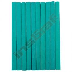 Krepový papír zelený 10 ks