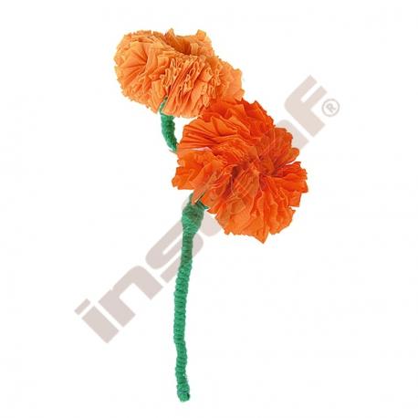 Krepový papír oranžový 10 ks