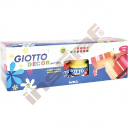 Giotto - akrylové barvy, 12 ks