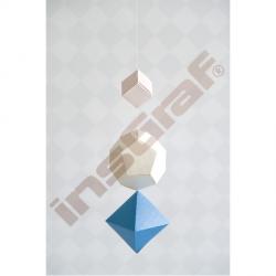 Reliéfní papír vzor čtvereček