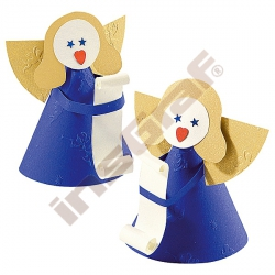 Reliéfní papír vzor andílci