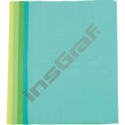 Hedvábný papír 50 x 70 cm zelené odstíny