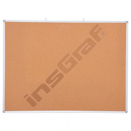 Korková tabule v hliníkovém rámu 90 x 120 cm
