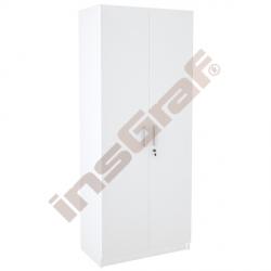 Vysoká skříň dvoudvéřová, bílá