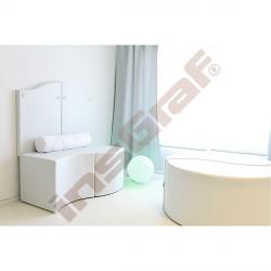 Sedák bílý vypouklý, výška 54 cm
