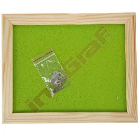 Korková tabule 60 x 90 cm - zelenkavá