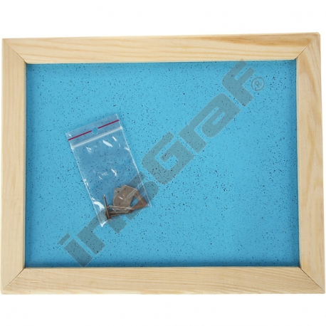 Korková tabule 60 x 90 cm - bleděmodrá