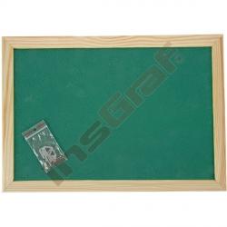 Korková tabule 90 x 120 cm - zelená
