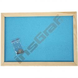 Korková tabule 90 x 120 cm - bleděmodrá