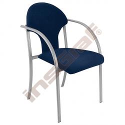 Židle Visa alu tmavomodrá