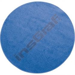 Kulatý koberec prům. 100 cm - modrý