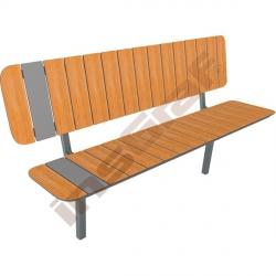 Zahradní lavička s opěrkou