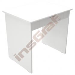 Quadro - psací stůl se širokou zásuvkou - bílý korpus, bílý