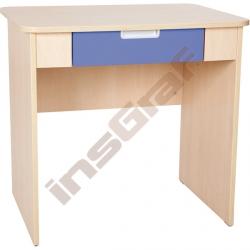 Quadro - psací stůl se širokou zásuvkou - bleděmodrý