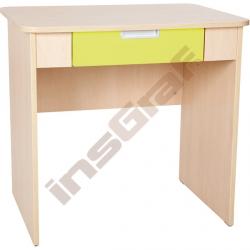 Quadro - psací stůl se širokou zásuvkou - limetkový