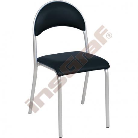 Židle P polstrovaná černá